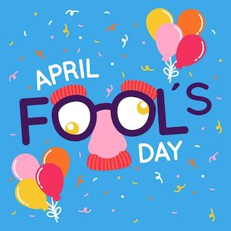 Плоский дизайн апреля дураков день праздничный