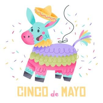 Синко де майо, акварель стиль