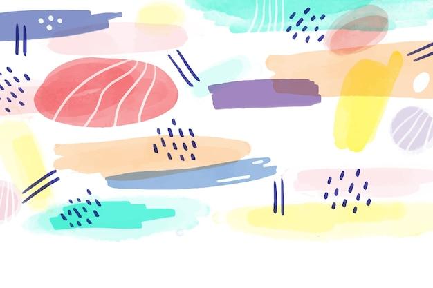 背景を描いた水彩画のデザイン