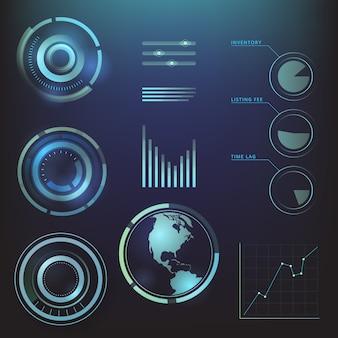 インフォグラフィックの未来的なスタイル