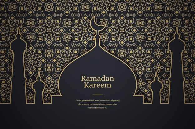 Плоский рамадан карим фон