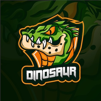Динозавр талисман логотип