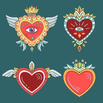 Иллюстрация концепции священного сердца