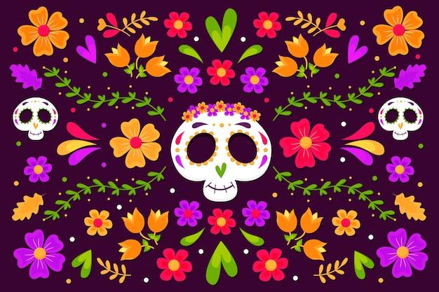 Красочная мексиканская тема фона