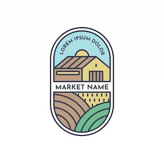 シンプルな市場ロゴ