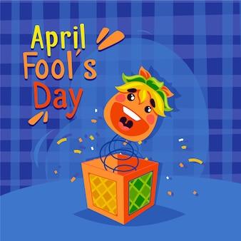 Плоский дизайн апреля день дураков концепция