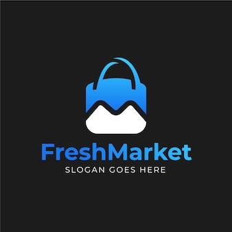 生鮮市場のロゴデザイン