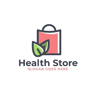 健康ストアのロゴデザイン