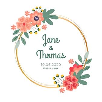 Свадебная цветочная рамка