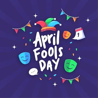 Апрель дураков день плоский дизайн