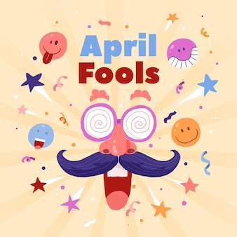 Ручной обращается апрель дураков день концепция