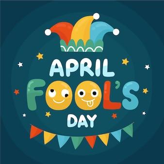 Рисование апреля день дураков концепции