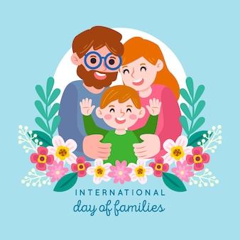 家族のイラストの国際デー
