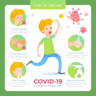 コロナウイルスのインフォグラフィックコレクション