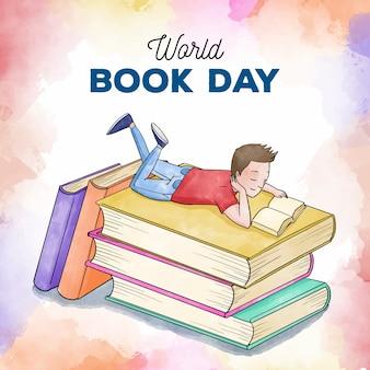 水彩の世界の本の日