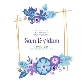 Свадебное торжество в цветочной рамке