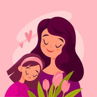 Дизайн иллюстрации дня матерей