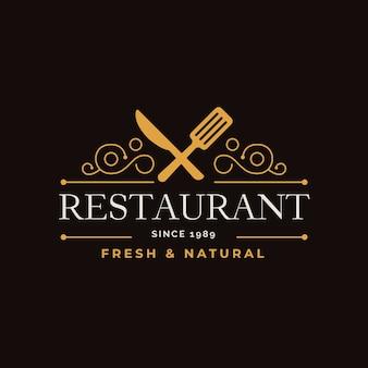 レトロなレストランのロゴ