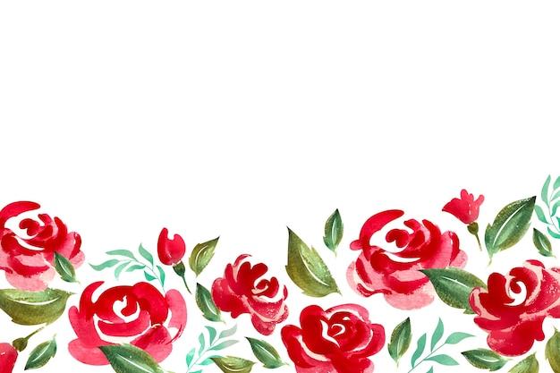 水彩花の背景