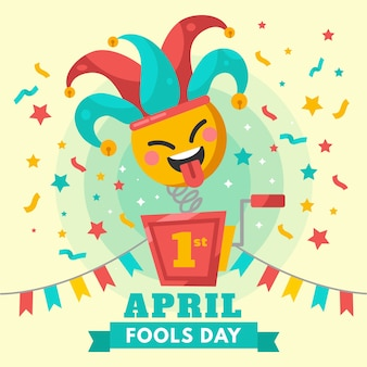 Красочная концепция празднования дня дураков