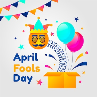 Плоский дизайн празднования дня дураков в апреле
