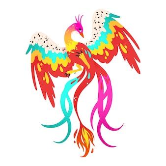 手描きの不死鳥のイラスト