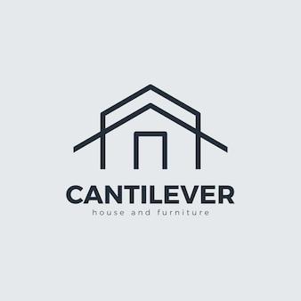 シンプルな家具のロゴのコンセプト