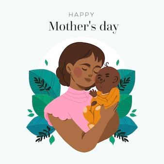 Нарисованная рукой концепция дня матери