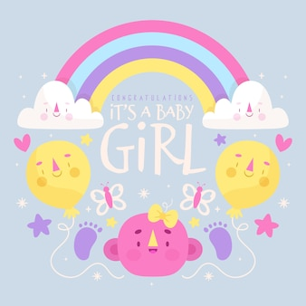 女の赤ちゃんシャワーイベントテーマ