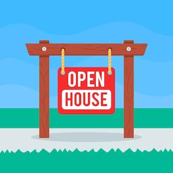 オープンハウスサインイラスト