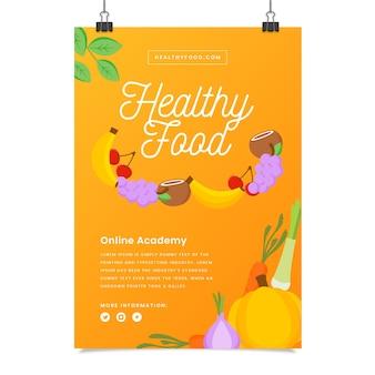 Шаблон флаера здоровой пищи