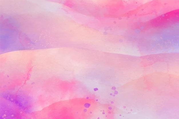 水彩コピースペース背景グラデーションピンク