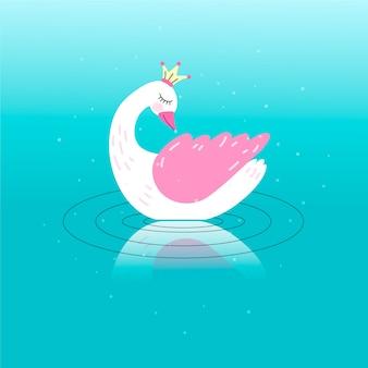Милая лебедь принцесса