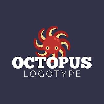 Творческий шаблон логотипа осьминога