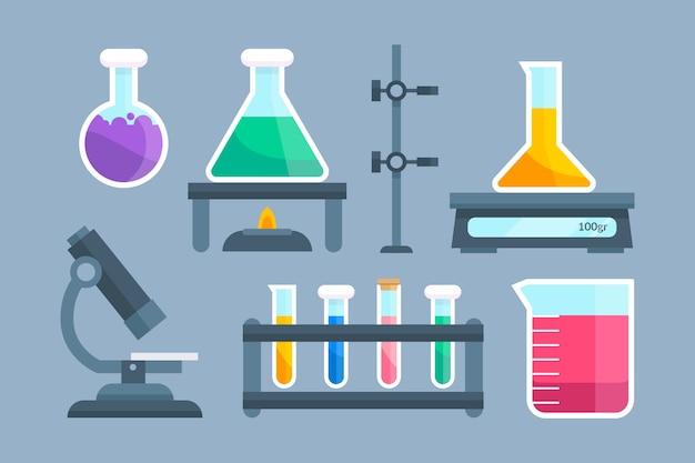 Набор объектов научной лаборатории