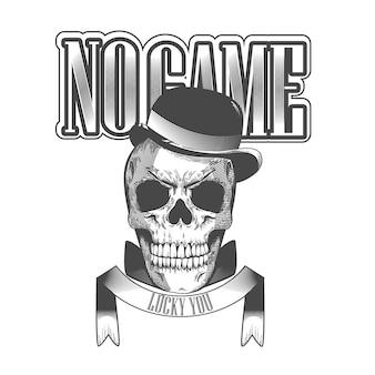 Ретро дизайн логотипа мафии