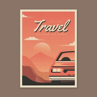 旅行ポスターイラストスタイル
