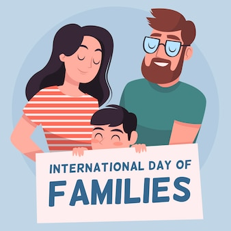 手描きの家族の国際デー
