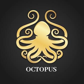 Логотип золотой осьминог