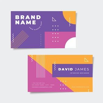 Абстрактная красочная тема визитной карточки