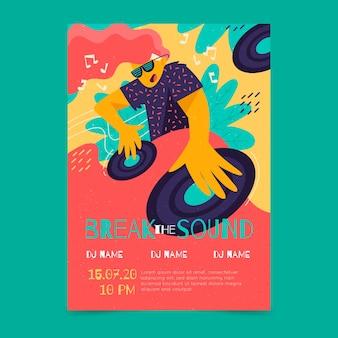 Шаблон для музыкального постера