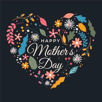 Счастливый день матери с цветами
