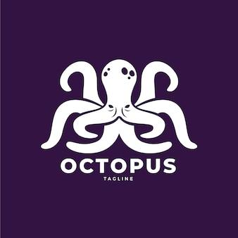 Осьминог логотип ручной обращается дизайн