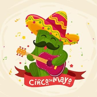 Ручной обращается стиль синко де майо