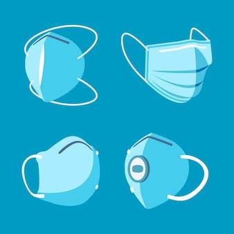 フラットデザインのサージカルマスク