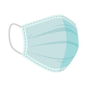 Концепция плоской медицинской маски