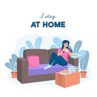 Оставайся дома концепция