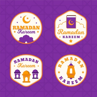 Рамадан дизайн коллекции этикеток