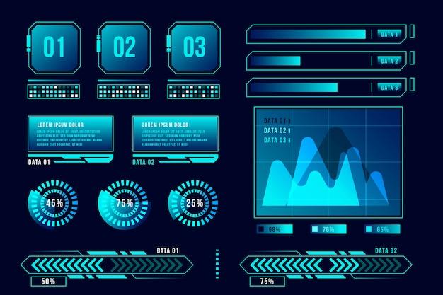未来的なインフォグラフィックコンセプト