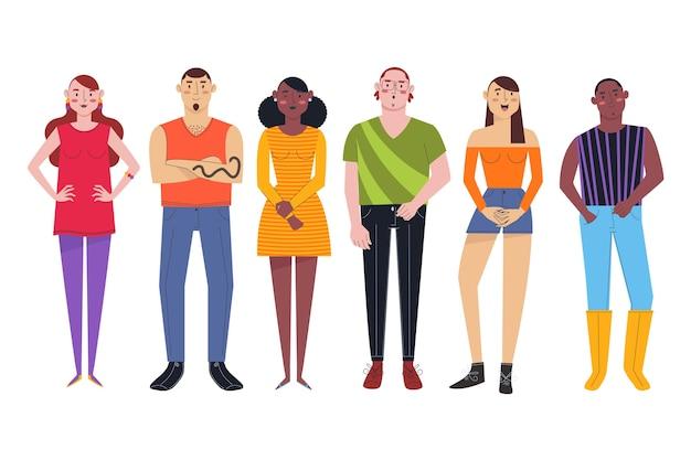 Группа межкультурных людей